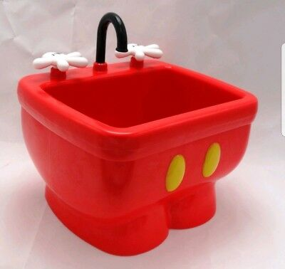 Disney Parks DCA Clarabelle's Mickey Mouse Red Pants Kitchen Sink Ice Cream Bowl