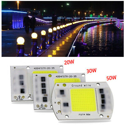 20W 30W 50W LED Floodlight COB Chip 220V Input Integrated Smart IC Driver Indoor