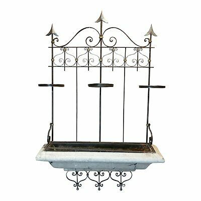 Spanish Wrought Iron Window cage Planter Box w/Arrows