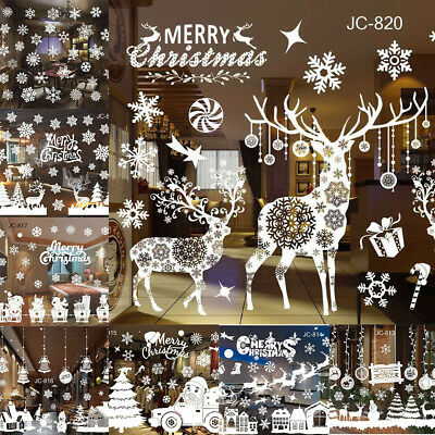 Merry Christmas Window Decal Wall Sticker Vinyl Removable Xmas Home Party Decor