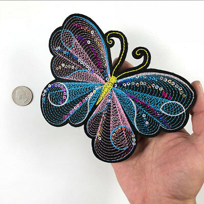 Colorful Sequin Butterfly Shining Insect Sew on Patch Embroidered DIY Applique