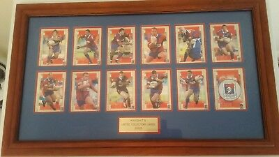 Nrl Newcastle Knights 2003 Select  Limited Collectors Card Set- Framed-Vgc