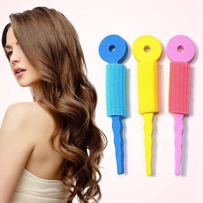 3Pcs Soft Foam Sponge DIY Styling Hair Rollers RodsFlexible Hairstyling Curler
