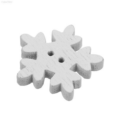 359C 25PCS/Pack Christmas Snowflake Button Sewing Accessories Supplies Cute 18MM