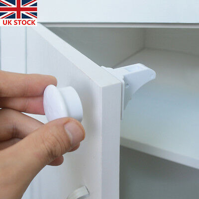 Invisible Magnetic Child Lock Baby Kids Security Cabinet Drawers Safety Locks
