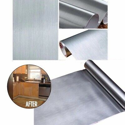 3m Metallic Stainless Steel Car Film Panel Cover Decal Contact Paper Sticker