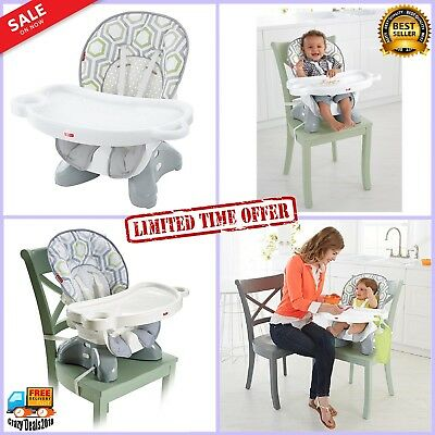 Baby High Chair Infant Feeding Toddler Booster w Removable seat back & tray