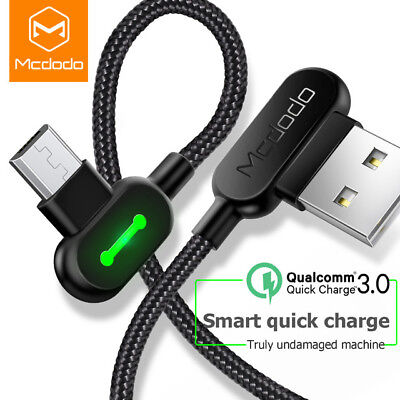 Genuine MCDODO LED USB Cable Fast Charging For Samsung Android Micro USB Cable