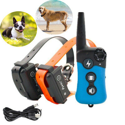 900ft ipets Dog Shock Training Collar Remote Rechargeable Anti-Bark Waterproof