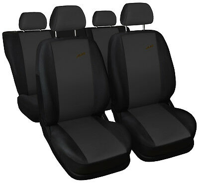 Car seat covers fit Nissan Almera - XR black/dark grey sport style