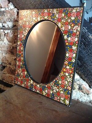 Very Decorative Vintage Mirror With Floral Painting