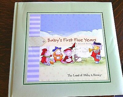 Baby Memory Book Hardcover Record Baby's First Five Years Diary Album Milestones