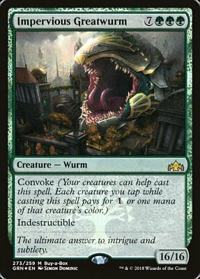 Impervious Greatwurm Mythic Rare Buy A Box Promo FOIL MTG Guilds of Ravnica GRN