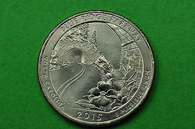 2015-D   BU Mint State ( Blue Ridge Parkway ) US National Park Quarter