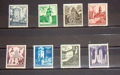 1940 Germany Poland General Gov't WWII Famous Castles - previously hinged