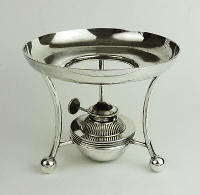 Antique SILVER PLATED BURNER & STAND James Dixon & Sons