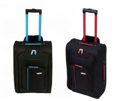 Ryanair Easyjet Carry-On Cabin Approved Hand Luggage Trolley Suitcase Travel Bag