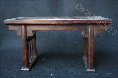 "14"" Old Chinese Huanghuali Wood Handcrafted Furniture Tables Tea Table Desk"
