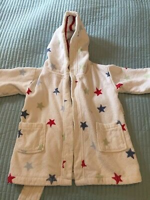Little White Company Baby Hooded Dressing Gown 18-24 Months