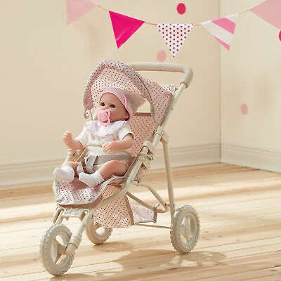 "Baby 16"" Doll Pram Stroller Buggy Pushchair Toy Gift by Olivia's World OL-00002"