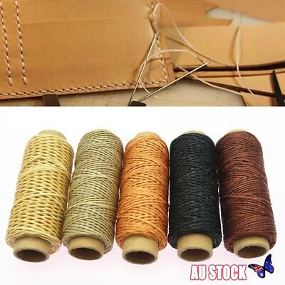 14pcs Leather Craft Punch Stitching Carving Sewing Tool Thread Awl Thimble Kit