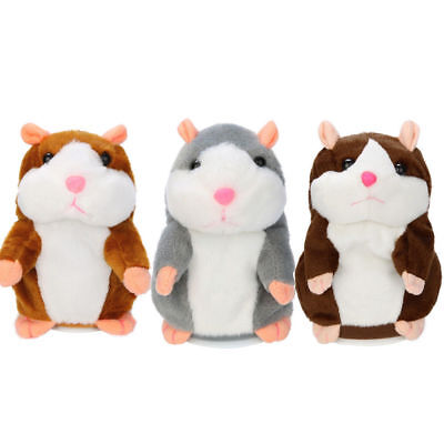 Talking Hamster Electronic Plush Toy Mouse Pet Sound Gift Children Repeats Words
