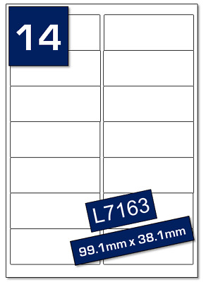 RED 99MM X 38MM L7163 14TV coloured Address label sheets RED Self Adhesive