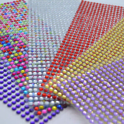 x750 pcs - 3mm Self Adhesive Stick on Diamonte Sparkles Gems Crystal Stickers