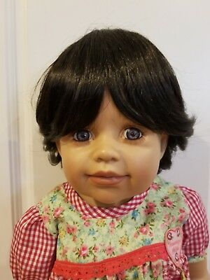 "NWT Monique Roxie Black Doll Wig 16-17"" fits Masterpiece Doll(WIG ONLY)"
