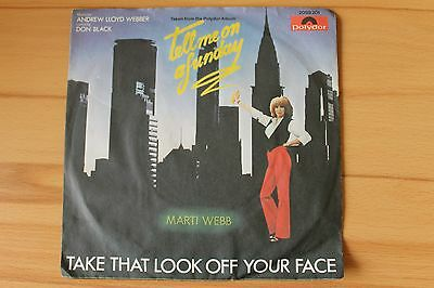 "Marti Webb - Tell me on a funday ; 7"" Single , Andrew Lloyd Webber"