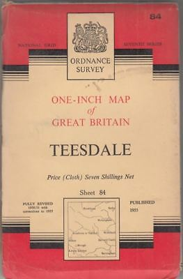 Teesdale Sheet 84 One-Inch Map of Great Britain Seventh Series : Ordnance Survey