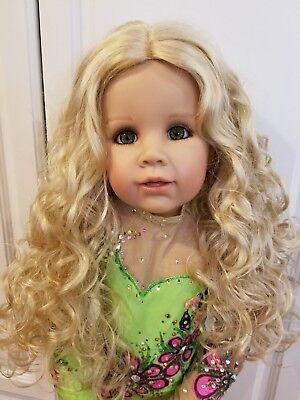 """NWT Monique Ginger Peach Blonde Doll Wig 17-18"""" fits Masterpiece Doll(WIG ONLY)"""