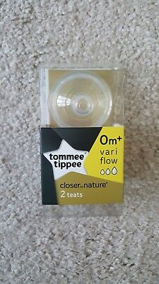 Tommee Tippee Closer to Nature Medium Flow Bottle Teat, Pack of 2