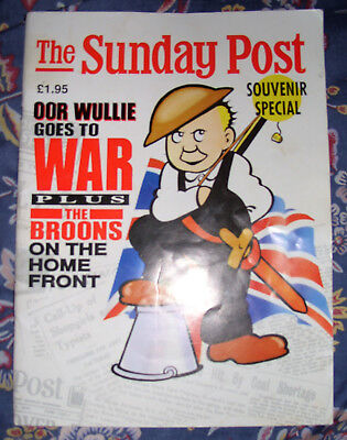 Oor Wullie Goes To War , Broons On Home Front , 1989 , Sunday Post Souvenir