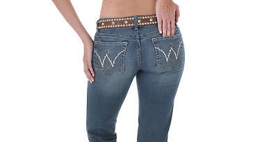 Women's NWT WRANGLER Mae BOOTY UP Boot Cut Premium Stretch Low Jeans 10MWZAR