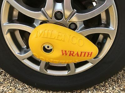 Milenco Wraith Sold Secure Gold Steel and Alloy Wheel Lock 1199