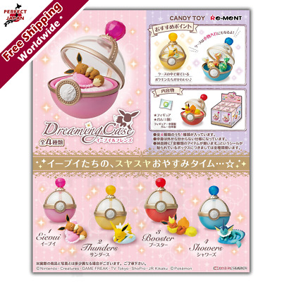 Pokemon Eevee & Friends Dreaming Pokeball style cases COMPLETE 4 SET