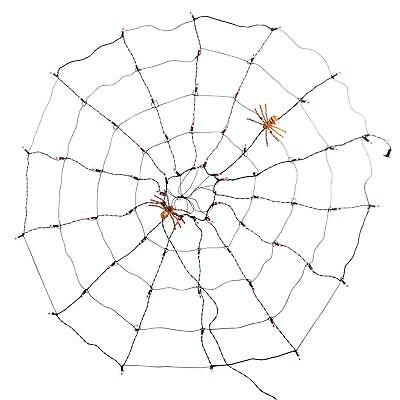 Hyde and Eek! Boutique 70ct Incandescent Halloween Purple and Orange Spider Web
