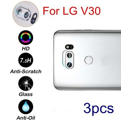 3pcs For LG V30 Tempered Glass Rear Back Camera Lens Protector Clear Film Guard