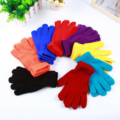 Fashion Solid Color Women Men Winter Soft Warm Magic Full Finger Gloves Clever