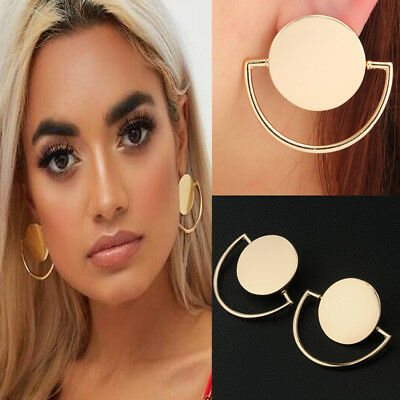 Women Fashion Boho Geometric Round Circle Dangle Drop Earrings Charm Jewelry