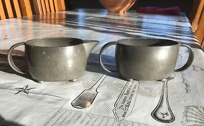 Arts & Crafts Liberty & Co Tudric Pewter Milk & Sugar Bowl Archibald Knox 1900s