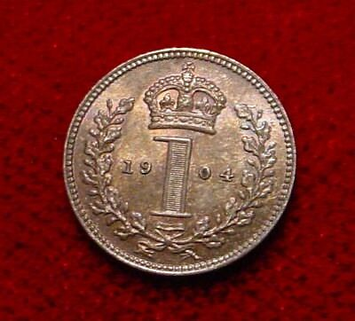 Rare Only 19.000 Minted 1904 Sterling Penny*britain Hi Grade Unc.925 Silver**