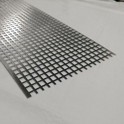 "Perforated Metal Aluminum Sheet .063 1/16"" 12"" x 12"" x 1/2"" Square hole"