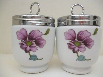 Royal Worcester Pair Of Egg Coddlers Astley King Size Double