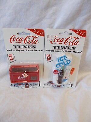 Coca-Cola Musical Magnets - Set Of Two - New - Dated 1997