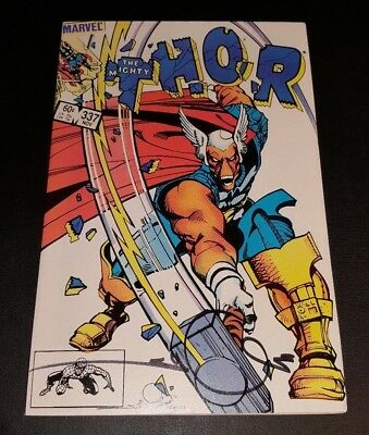 Thor (The Mighty)  #337!! 1St Beta Ray Bill!!  Nm!! Signed By Walt Simonson!!
