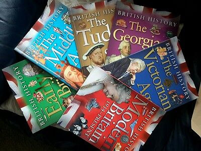 """NEW """"British History"""" 6 Books Tudor Georgian Victorian Middle Ages Modern/Early"""