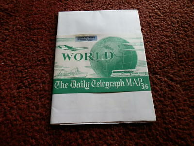 Vintage Huge 1960's  Daily Telegraph. Map Of The World, By Geographia, Pristine