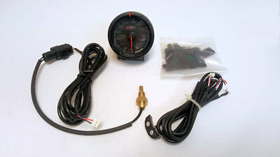 D1 Spec 52mm Black Face Oil Temperature Gauge *Genuine Item*